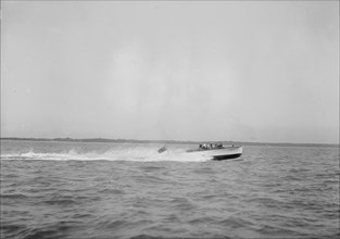Unknown speedboat underway. Creator: Kirk & Sons of Cowes.