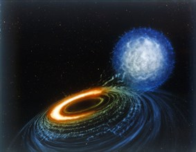 Black Hole, artist's concept. Creator: NASA.