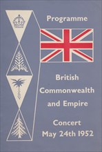 Programme for the British Commonwealth and Empire Concert, May 24th 1952. Creator: Shirley Markham.