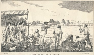 Pigeon Shooting in India', 19th century.