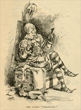 "The Clown ""Making-Up"", 1882."