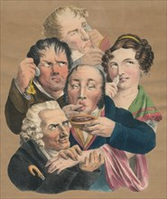 The five senses, late 18th-early 19th century.