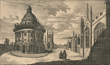 St. Mary's Church & Radcliffe Library at Oxford', c18th century.