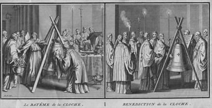 Le Bateme de la Cloche' and 'Benediction de la Cloche', 1724.