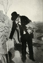 Cézanne with painting and palette, c1900, (1947).