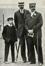 Prince Albert with his tutor and Lord Desborough, 1908, (1947).