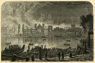 Destruction of the Old Houses of Parliament, October 16, 1834', (1881).