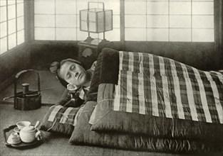 Bed-Time in Japan', 1910.