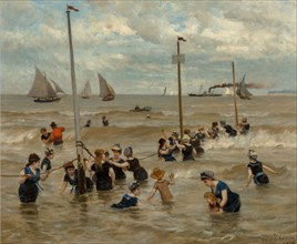 Bathing by the sea, 1876.