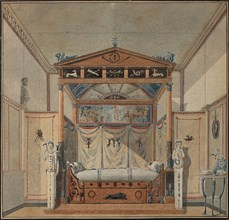 Design of the Bed, c. 1800.