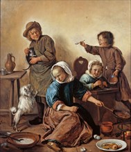 The Children's Meal, ca 1665.