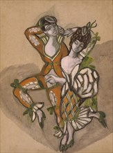 Costume design for the theatre play The Marriage of Figaro by P. de Beaumarchais, 1915.