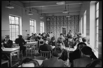Works canteen, Wear Flint Glass Works, Alfred Street, Millfield, Sunderland, 1961