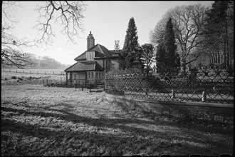 Old lodge and attached wall, Hamsterley Hall, County Durham, c1955-c1980