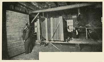 The Camera In The Workshop - Showing The Size Of The Plate Holder', 1901.