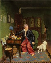 An Aristocrat Takes Breakfast', or 'Silk on His Stomach and Nothing Inside', 1849-1850, (1965).