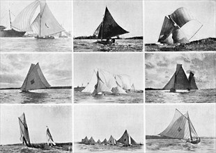 Typical Sydney Harbour Yachting Scenes, c1900.