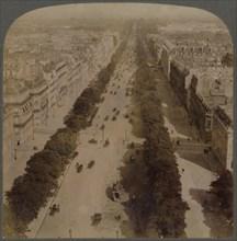 Champs Elysees - from Arch of Triumph to Place de la Concorde - Paris, France', 1900.