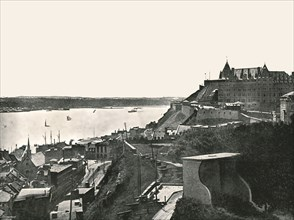 The Citadelle and the St Lawrence river, Quebec, Canada, 1895.