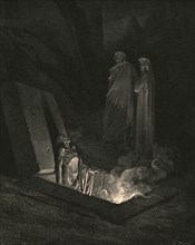 He, soon as there I stood at the tomb's foot, ey'd me a space', c1890.