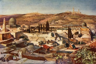 The Temple Area and the Mount of Olives from Mount Zion', 1902.