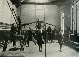 Girl Gymnasts at the Royal Institution for the Deaf and Dumb, Friar Gate, Derby', 1902.
