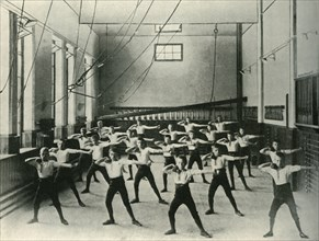 Physical Exercises at the Royal Institution for the Deaf and Dumb, Friar Gate, Derby', 1902.