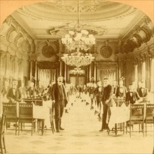 The Great Dining Hall, Windsor Hotel, said to be the finest in the World, Montreal, Canada', 1894.