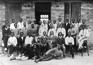 Staff of a West African Government Printing Department', 1909.