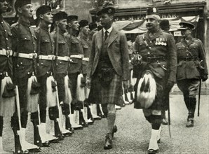 His Majesty Inspecting The Guard Of Honour Of The Black Watch At Perth in August, 1935.