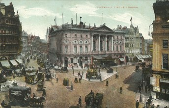 Piccadilly Circus, London', late 19th-early 20th century.