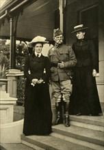 Lord Roberts and his Daughters at Pretoria', 1900, (1901).