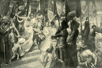 The Prince of Wales Conferring the Order of the Star of India at Calcutta', 1901.