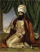 Portrait of Asker Khan, Ambassador of Persia, in Paris in 1808, 1809.