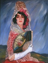 Mi Prima Cándica con mantilla, c. 1913.