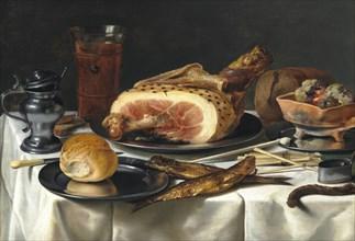 Still Life with Ham, 1625.