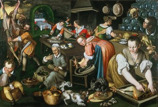 Kitchen, ca 1585-1590 .