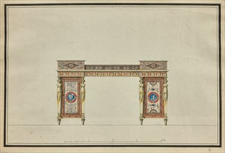 Design of a desk, c. 1800.