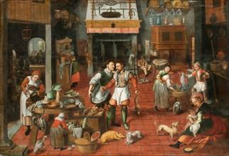 Kitchen interior , c. 1565.