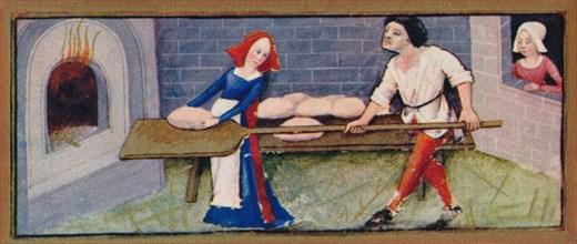 December - baking, 15th century, (1939). s