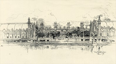 The Pavilions of Horticulture and Forestry by Tony Grubhofer', 1900.