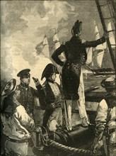 Captain William Walpole intercepting the Duke of Saldanha's ships, Liberal Wars, 1829 (c1890).