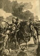 British General Joseph Thackwell at the Battle of Sobraon, Punjab, India, 1846 (c1890).