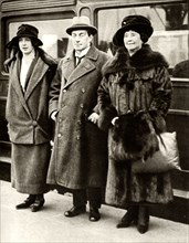 British Prime Minister Stanley Baldwin with his wife and daughter, London