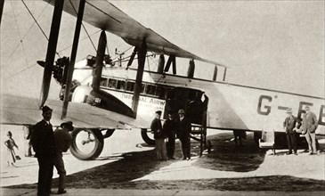 The first Indian Air Mail arrives at Croydon Airport, south London