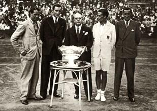 Great Britain wins the Davis Cup tennis championship, Paris