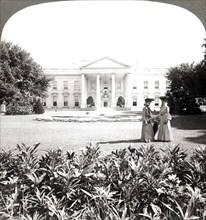 'The White House, the historic residence of the Nation's Chief - north front-Washington