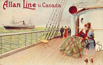 'Allan Line to Canada', c1900