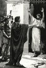 'Caesar Possessing Himself of the Treasure in the Temple of Saturn',1890