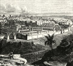'Jerusalem in the Time of Jesus Christ, Showing the Temple as restored by Herod the Great'